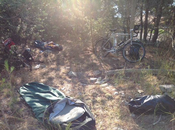 Camping on Vis