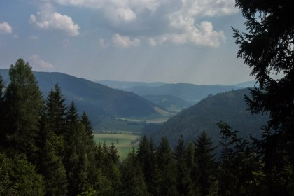 The view into the valley after our second last Austrian pass