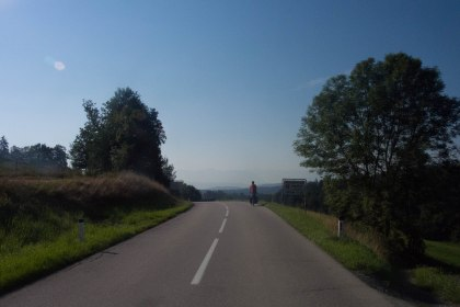 With the quite smooth roads descending in Austria was great