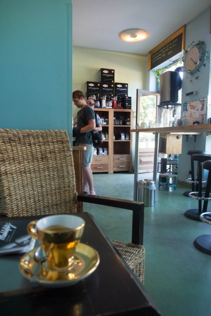 After taking a wrong turn and walking to the other end of Salzburg we finally found our coffee shop.