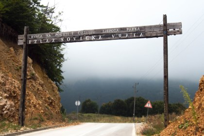 We then crossed into a national park. After passing through this gate we had an amazing descent which seemed more like Cambodia then Bosnia