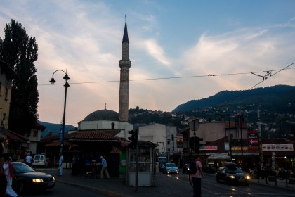 View from our hostel of the Old square sarajevo
