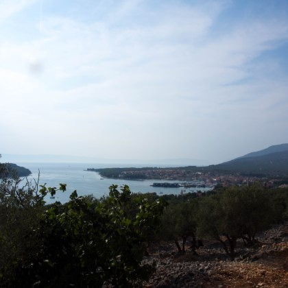 The view of the main town on Cres