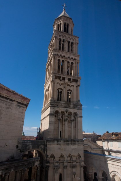 View of the main tower in split from our room