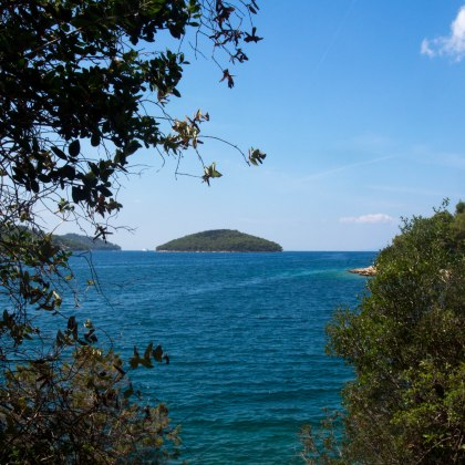 Island in the bay of Korčula