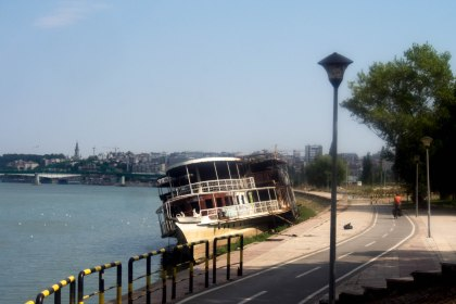 Cycling into Belgrade