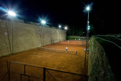 There are a load of tennis and basteball courts in the old walls of the fort