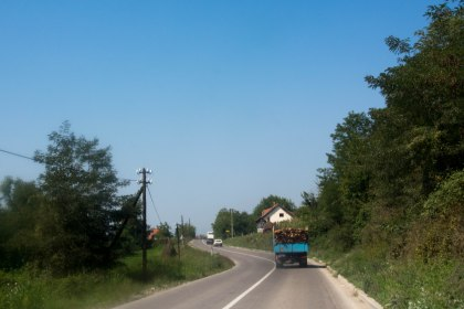 The cars and roads changed as soon as we got into Serbia