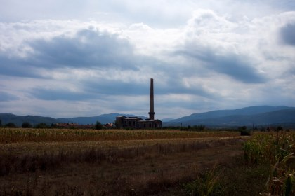 A lot of old industrial buildings near Bulgaria