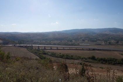 EU funded motorway being built