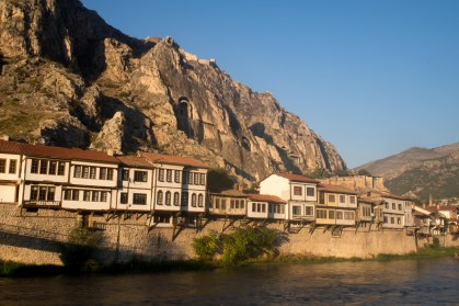 Ottoman houses in Amasya and pontic tombs in the backround