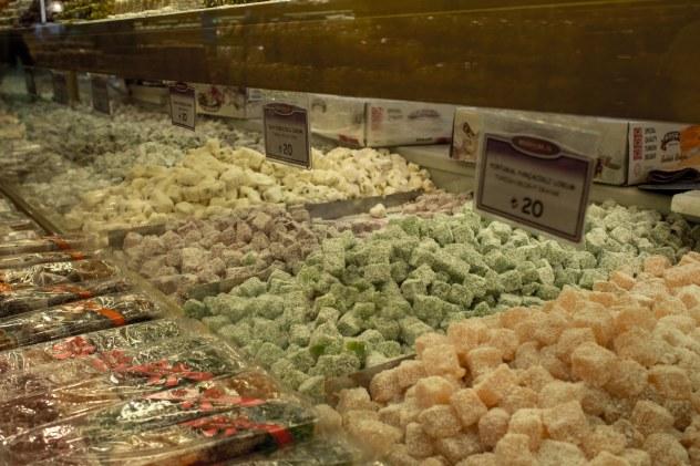Lokum or turkish delight