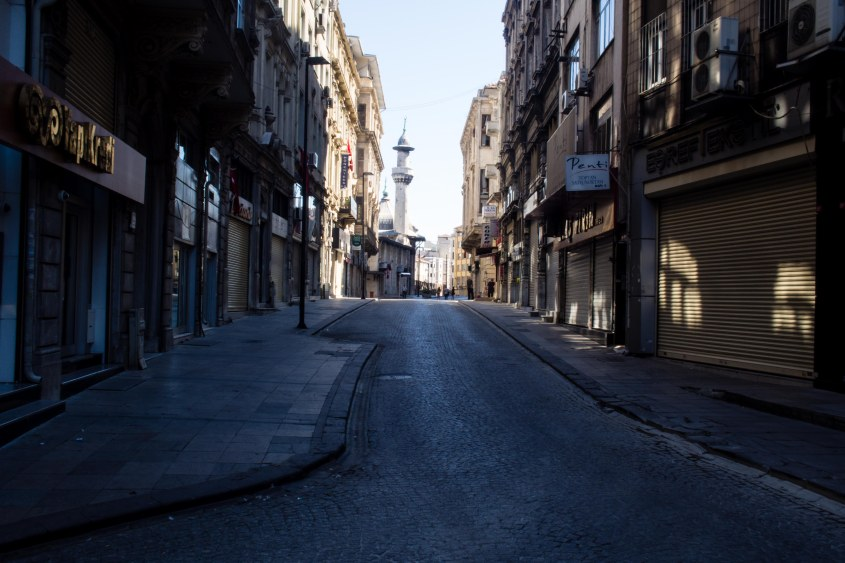 Istanbul during Bayram is absolutley empty we couldn't believe a city of this size could shut down so completetly for so many days