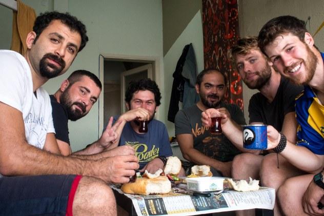 Breakfast with Oscar, shefak, Yawus and Jorgen