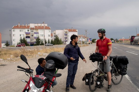 """""""So you're cycling??"""" these guys just couldn't believe us."""