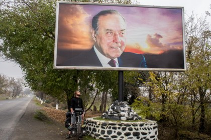 Posters and billboards of this guy popped up pretty regularly. Turns out he is the curropt president of the country. He's dead now but his son was voted into the presidency after him.