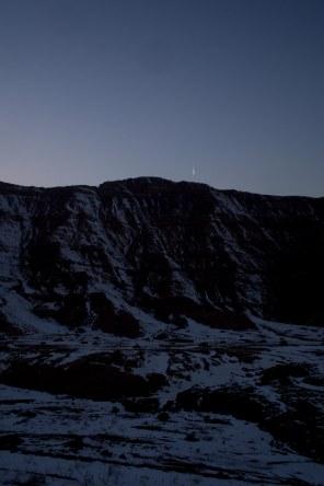 Sun set before tabriz
