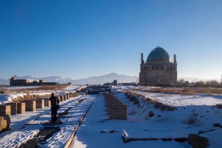 Visiting a Mongols tomb