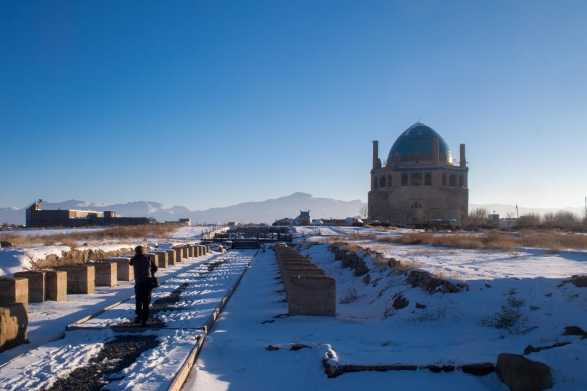 Visiting a Mongols tomb