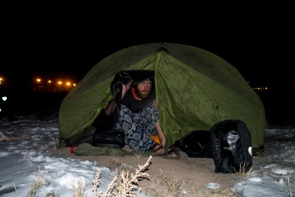 There haven't been many camp photos in winter because it's usually straight into the tent