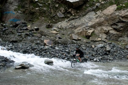 We cycled through bigger and bigger rivers as we got further up the mountains