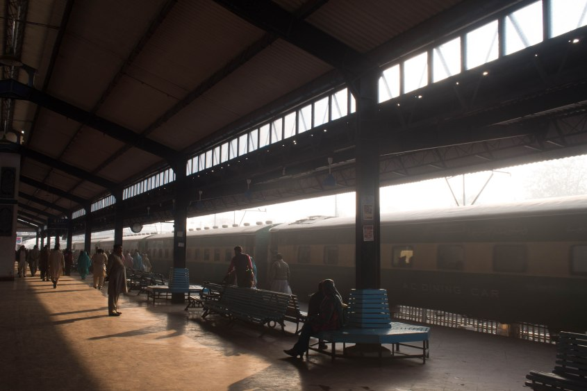 The train station in Multan