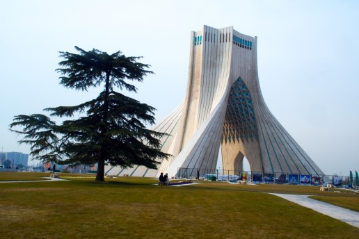 The Azadi tower