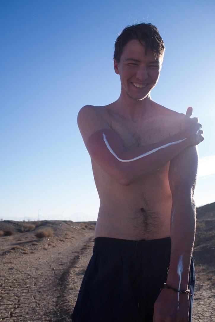 Hot in the desert