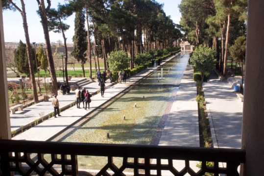 Persian gardens are a nice break from hectic Iranian cities