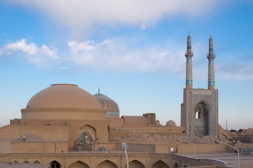 View from our hostel roof in Yazd