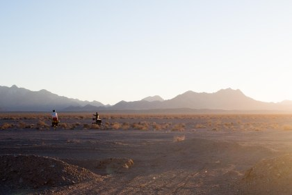 All the camping spots are kind of the same in the desert.