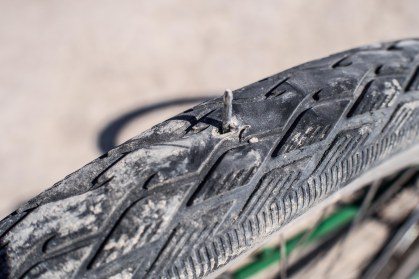 After patching this puncture I found out it went through to the other side and had cause a second puncture.