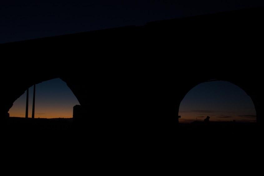 Camping under an old persian bridge