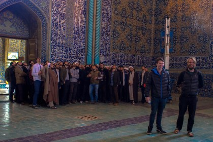 When this school group walked in and saw hugo they swamped him all crowding around to get selfies. Very quickly the mullahs corralled them away from the infidels