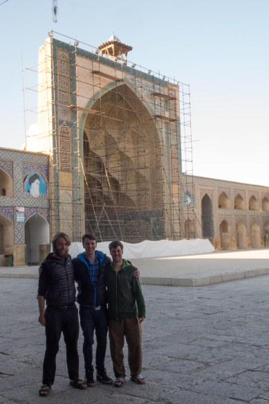 At the Friday mosque in Esfahan