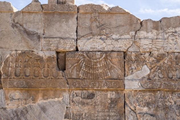 The Faravahar symbol of the zoroastrian religion, hugely important for iranian identity.