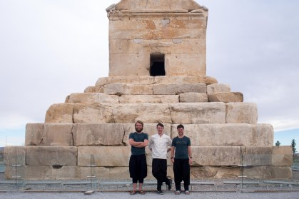 The founder of the entire Persian empire Cyrus the Great's tomb. We were asked by the tour guide who was Irelands Cyrus the great