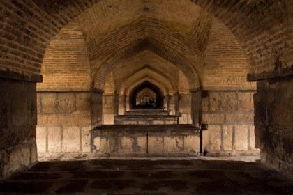 Inside a bridge in Esfahan