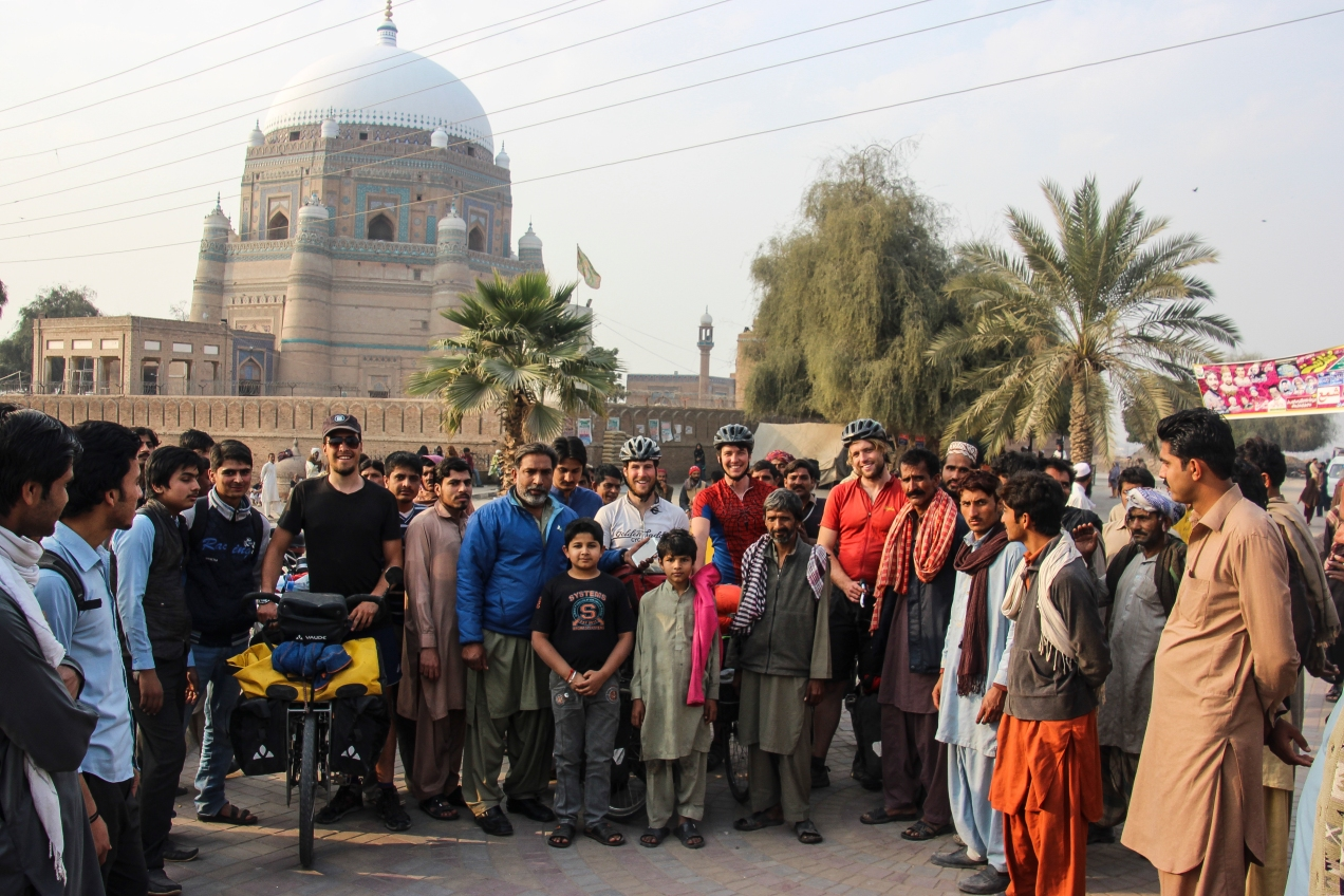 It doesn't take long after stopping for a picture in Pakistan before an interested crowd of locals gather around you.