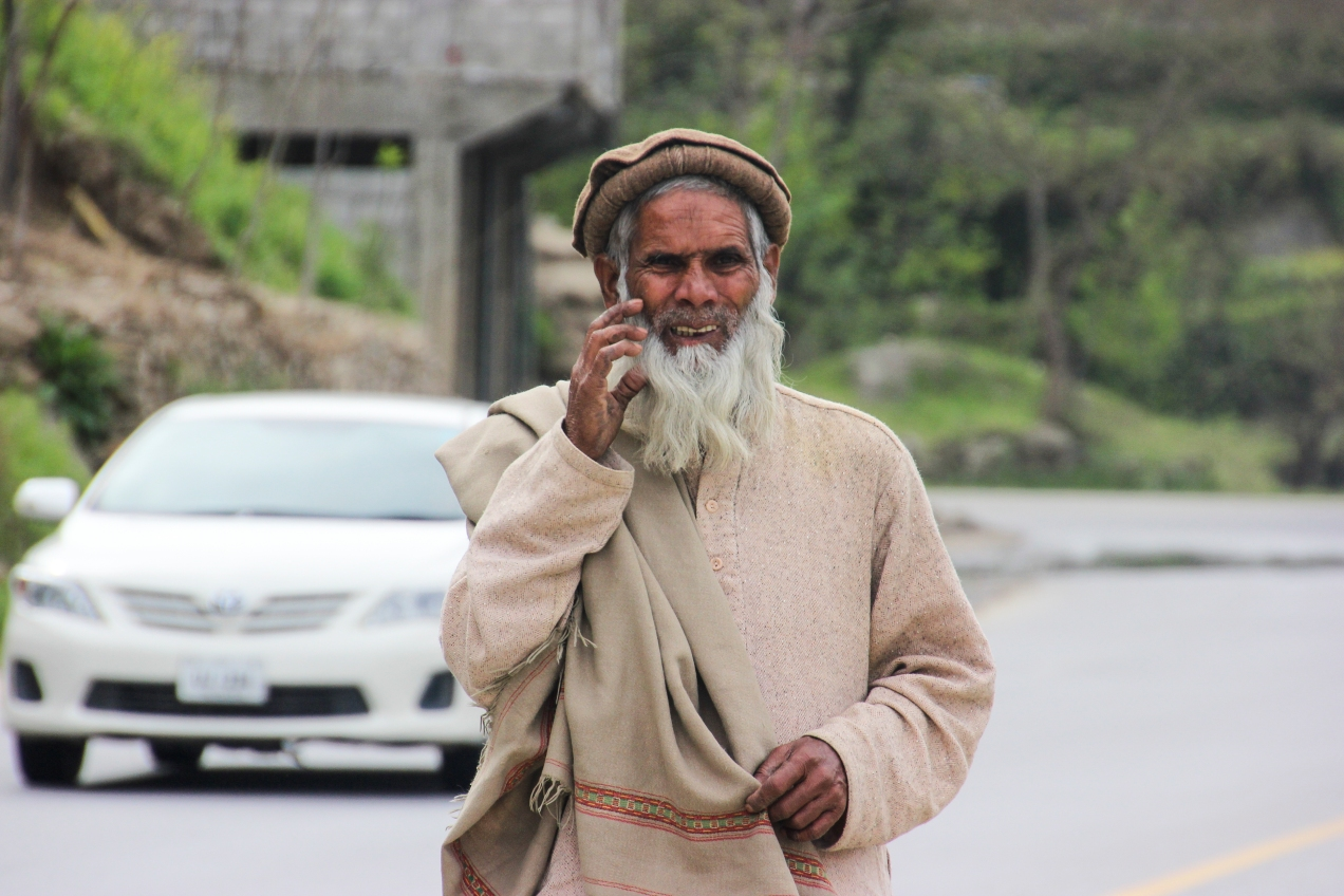 One of all the very photogenic old bearded men that lives in Pakistan.