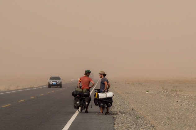 "Hugo ' What is it, a dust storm or just haze?' Andre "" I don't know but it's getting closer'"