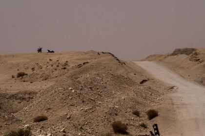 Hard work riding in the desert