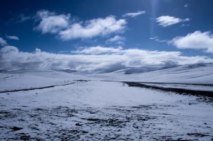 It snowed every night on the plateau.
