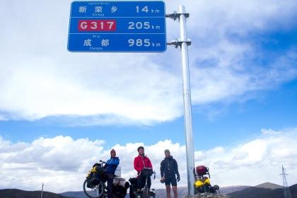 Less than 1000km left as a trio.